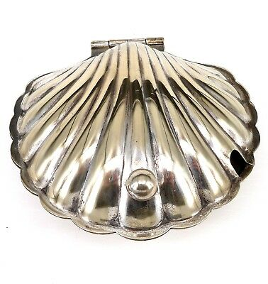 Silver Clam Shell Butter Dish Lidded Form