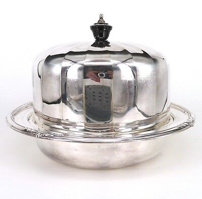 SILVER LIDDED MUFFIN DISH BY FRANK COBB & Co.