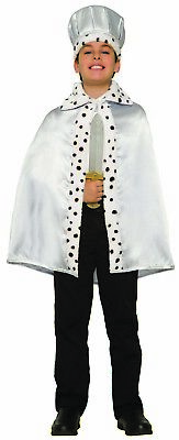Royal Cape Boys Child Fairytale King Halloween Costume Accessory