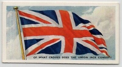 Crosses Included To Make The Union Jack Flag  75+ Y/O Trade Ad Card