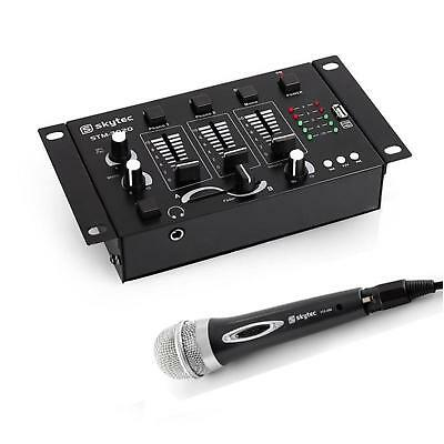 Ensemble Voix Presentation Conference Karaoke Table De Mixage Usb Pro + Micro
