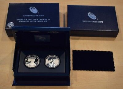 2012-S United States Mint American Eagle Two-Coin Silver Proof Set