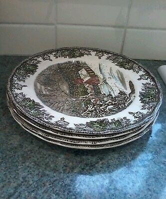 Johnson Brothers Friendly Village 9.75Ins Dinner Plates X 4 Lovely