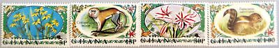 GHANA 1972 468-71 450-53 local Fauna & Flora Plants Pflanzen Monkey Affe MNH