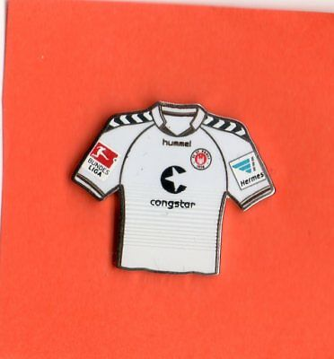 Pin TRIKOT  FC ST. PAULI   WEISS   2014-15   BL-PATCH HERMES-PATCH