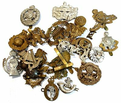 23 x  Military Army Assorted Hat Jacket Brass Emblems Pins  - H42