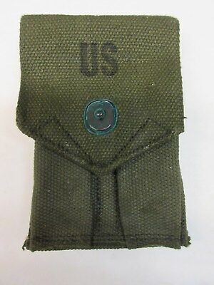 US M56 .45 M1911 CANVAS Mag Pouch M-1956 NOS NEW OLD STOCK