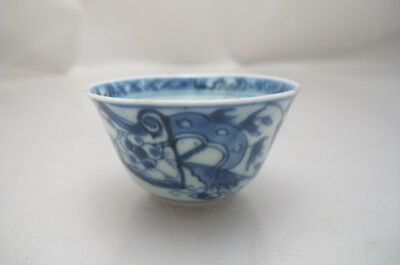 Antique Chinese Porcelain  Small Teabowl  Blue White
