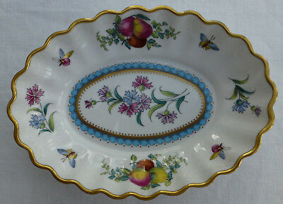 Vintage SPODE Bone China FLUTED OVAL DISH Design TRAPNELL