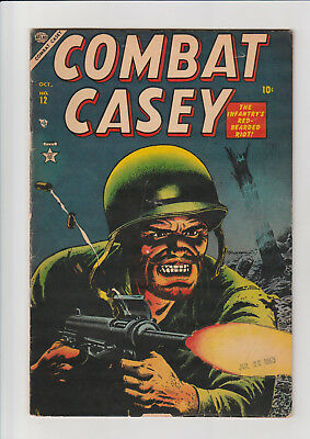 Combat Casey #12 (Oct 1953, Marvel) F nice Atlas