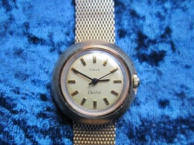 Space Age Era Timex Electric Watch With Mesh Band