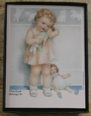 GIRL WITH DOLLS BOOK PLATES - ANTIOCH set of 24 Boxed - VINTAGE LOOK!