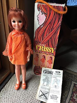 Vintage 1970 Crissy Doll W Box And Papers Ec Original Dress Shoes Etc ~ Ideal