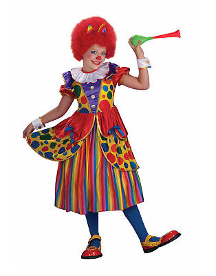 Clown Princess Girls Child Cute Circus Performer Halloween Costume