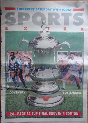 "COVENTRY CITY v TOTTENHAM HOTSPUR FA Cup Final 1987  Preview from ""Today"" paper"