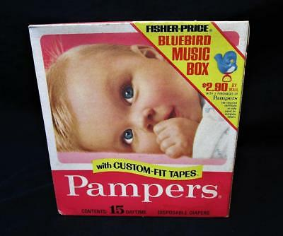 Box of 15 Vintage NOS Unopened 1970's Pampers 11 to 16 lbs Daytime Diapers