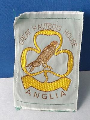 Girl Guides England Anhlia International Silk Patch Badge Vintage Collector