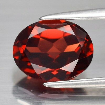 2.48ct 9x7mm Oval Natural Unheated Orangish Red Almandine Garnet, Africa