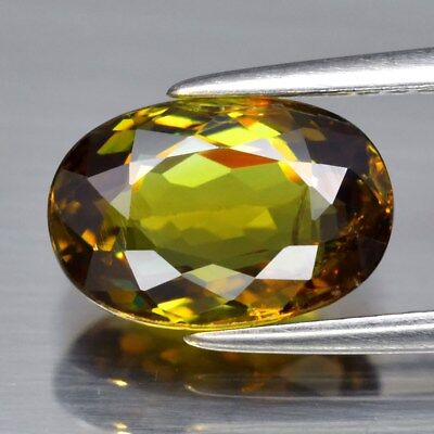 2.92ct 10x6.8mm Oval Natural Greenish Yellow Demantoid Garnet, Madagascar
