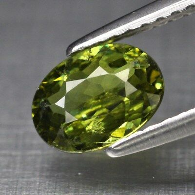 0.95ct 7x5.3mm Oval Natural Yellowish Green Demantoid Garnet, Madagascar