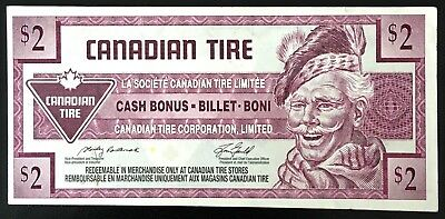 1992 Canadian Tire $2 Dollar Note ***Crisp Uncirculated*** CTC-S16-G