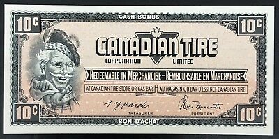 Vintage 1974 Canadian Tire 10 Cents Note ***Crisp Uncirculated*** CTC-S4-C-GN