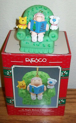 ZIGGY Sitting on Couch Night Before Christmas 1st In Series Enesco