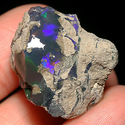 35.3CT 100% Natural New Found Africa Black Opal Facet Rough Specimen YHP29