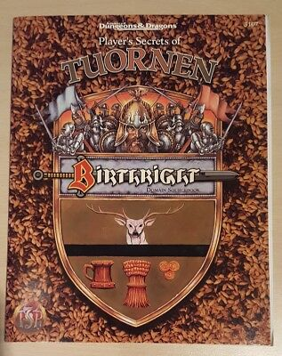 ++ Birthright: Tuornen  ++ AD&D 2. Edition 2e, Advanced Dungeons & Dragons