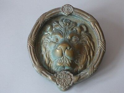 Giant Collectable Architectural Lions Head Solid Brass Door Knocker Free Uk P+P