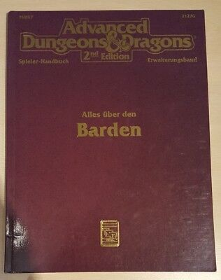 ++ Alle über den Barden  ++ AD&D 2. Edition 2e, Advanced Dungeons & Dragons