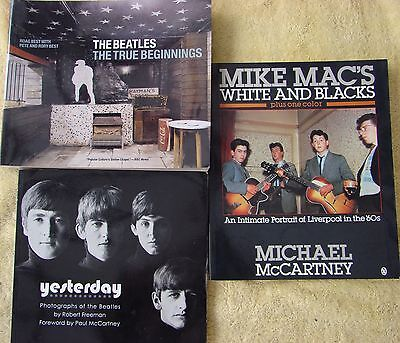 ♫ THE BEATLES  3 great books   OOP - lot 20 ♫