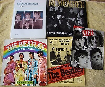 ♫ THE BEATLES 5 Beatles books - some rare - OOP - in good condition - lot 3 ♫