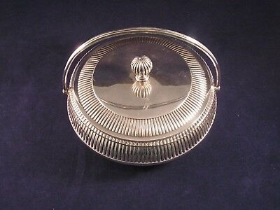 Antique Martin Hall Silver Plated Butter Dish  Martin Hall Victorian Plated Dish