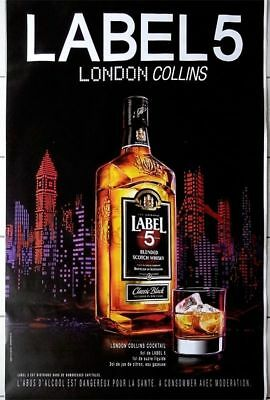 "Affiche Publicitaire "" Label 5 - London Collins "" : Grand Format 120x175 Cm"