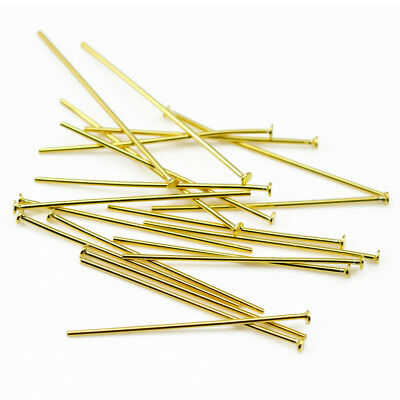 Gold Vermeil 925 Sterling Silver Flat Head T Pins Jewellery Making Findings