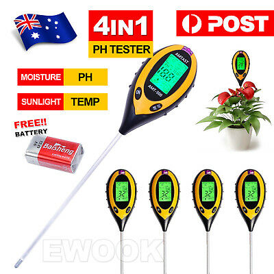 4 in 1 Soil PH Tester Moisture Sunlight Light Test Meter for Garden Plant Lawns