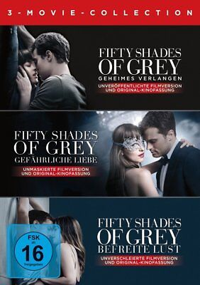 Fifty Shades Of Grey-3 Movie-Collection -  3 Dvd Neu
