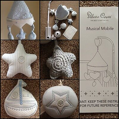 * Silver Cross Vintage Blue Musical Cot Mobile  Reduced! Bargain Ex Display