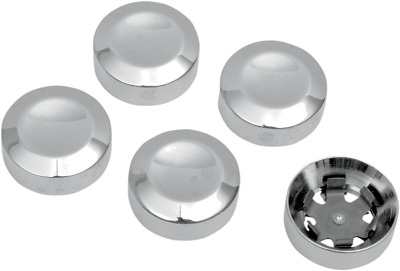 Rear Pulley Bolt Cover Chrome Drag Specialties 1201-0597