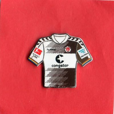 Pin TRIKOT  FC ST. PAULI   BRAUN-WEISS   2015-16   BL-PATCH HERMES-PATCH