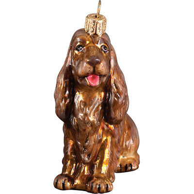 Sussex Spaniel Polish Glass Christmas Ornament Dog Tree Decoration