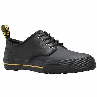 Dr.Martens Pressler 4-Eyelet Black Womens Leather Low-top Lace-up Shoes