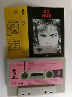 U2 - War - Musikkassette - MC - Tape - Cassette
