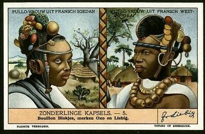 Native Sudan African Female Hair Styles 1930s Trade Ad Card