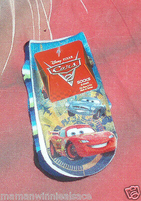 lot 3 paires chaussettes  cars disney 21-23  ** ** **