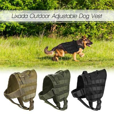 Tactical Military Dog Training Molle Vest Dog Cloth Load Bearing Harness O3L8