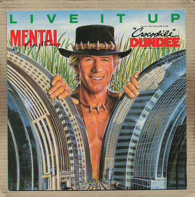 """7"""" Single - Mental As Anything, Live It Up"""
