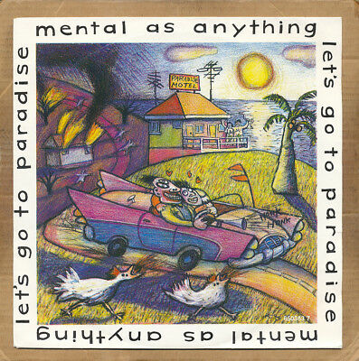 """7"""" Single - Mental As Anything, Let's Go To Paradise"""