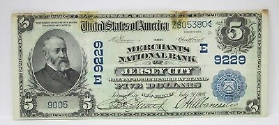 1902 $ 5 National Bank Of Jersey City 67702h